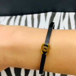 CHANEL Jewelry - Chanel black and gold bracelet 🤩